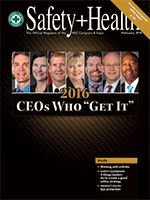 Safety+Health magazine February 2016 cover