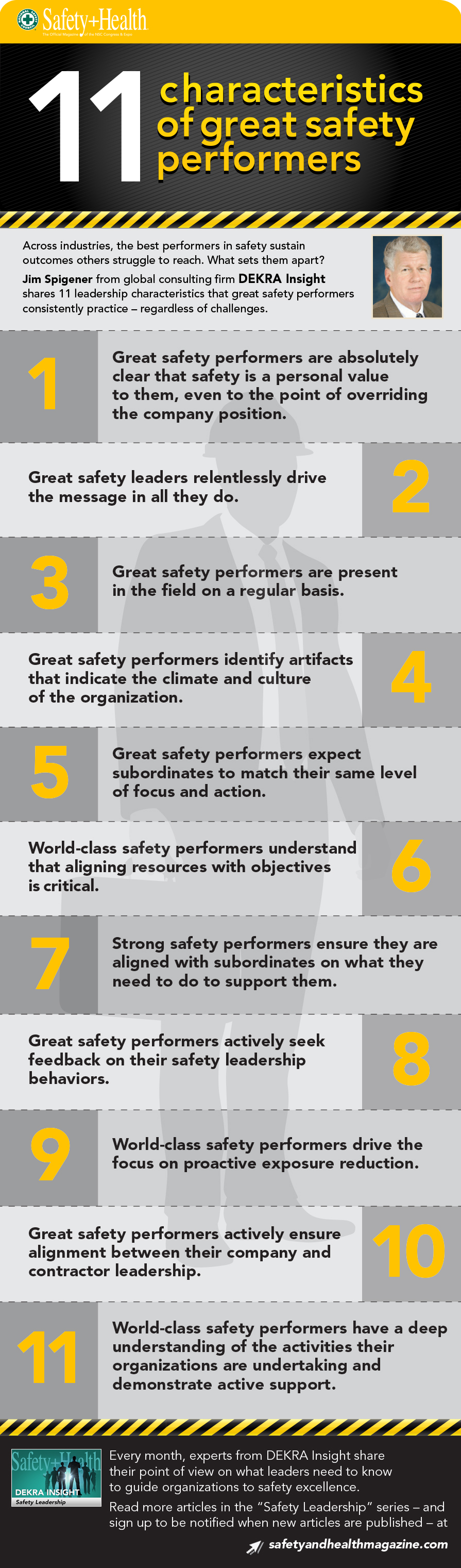 Safety Leadership: 11 characteristics of great safety