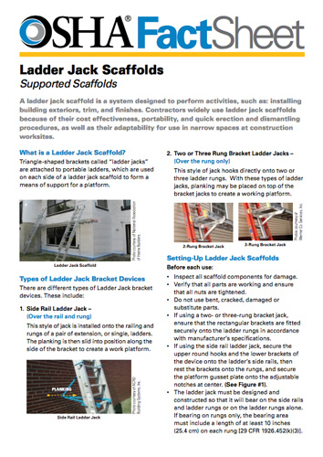 Understanding Ladder Jack Scaffolding 2017 10 29