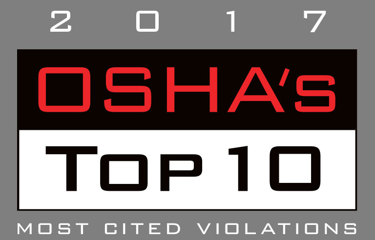 OSHA's Top 10 most-cited violations for fiscal year 2017