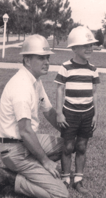 Robert Jernigan with his father, 1965