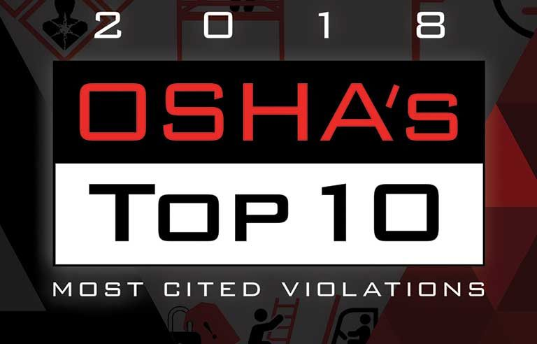 OSHA's 'Top 10' most-cited violations for fiscal year 2018