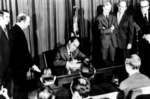 Richard Nixon signs the OSH act
