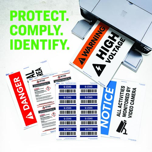 Avery safety labels