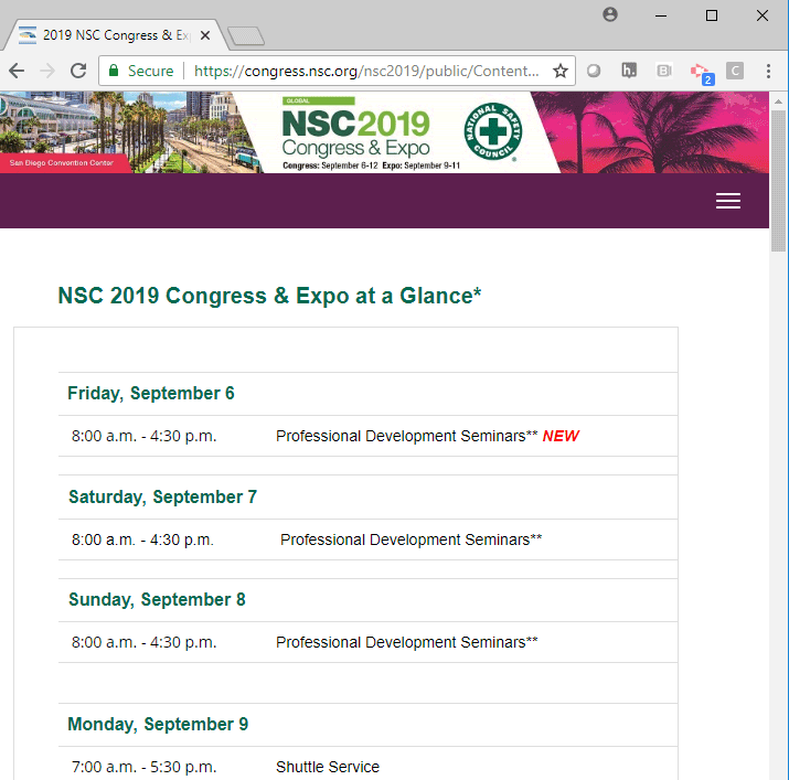 2019 NSC Congress &