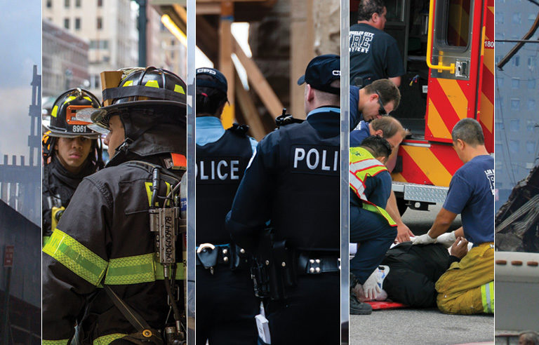 Large scale incident safety for first responders