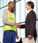 Worker management hand shake