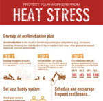 Heat stress infographic