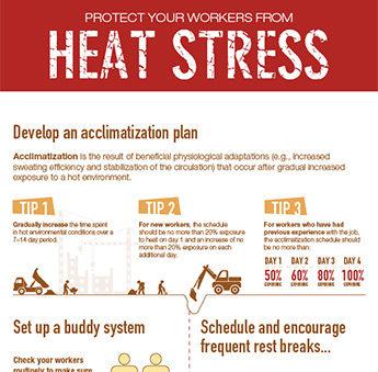 Heat stress infographic