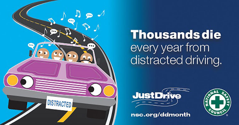 mark your calendars  april is distracted driving awareness