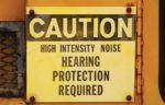 noise caution sign