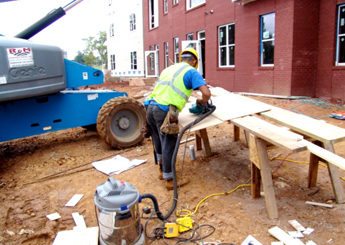 construction worker (dust)