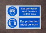eye protection/ear protection