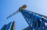 Upview of crane