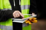 worker using an iPad