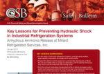 CSB Safety Bulletin, hydaulic shock in refrigeration systems