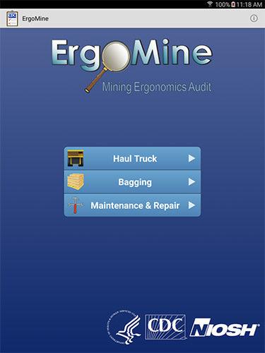 ErgoMine mobile app
