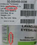 Honeywell eyewash recall