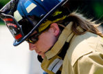 female paramedic/firefighter