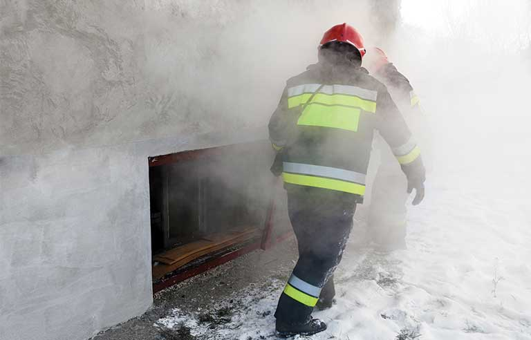 Firefighter-in-action