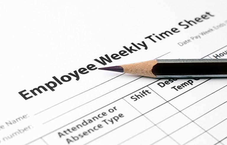 employee time sheet