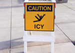 caution icy sign