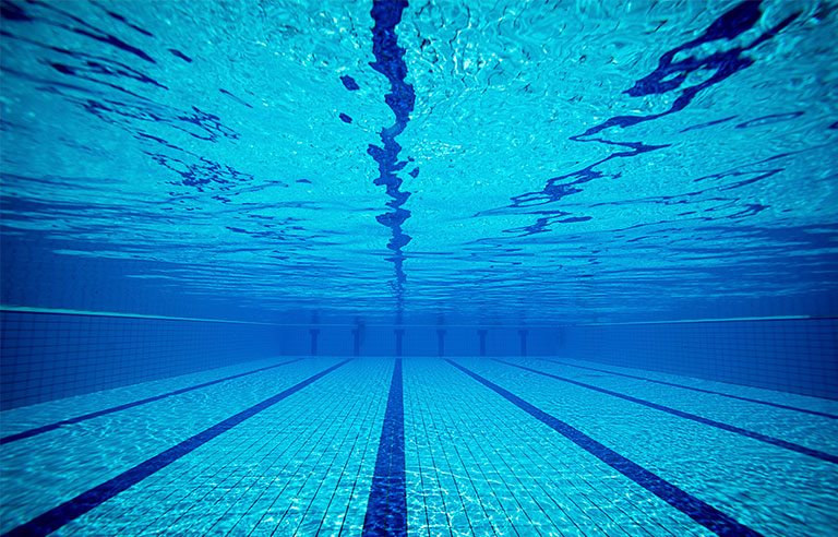 Researchers offer tips for protecting pool workers from - Protection from chlorine in swimming pool ...