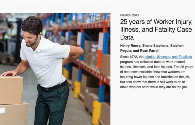 25 years worker injury case data