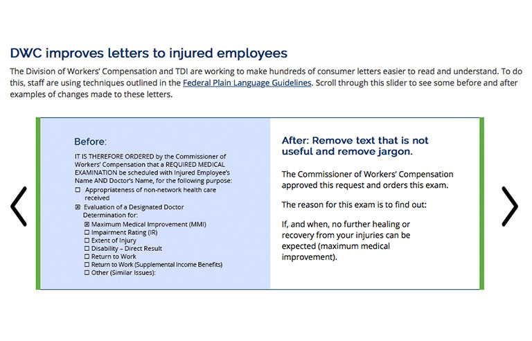 Texas Workers Compensation Letters Now Easier To Read