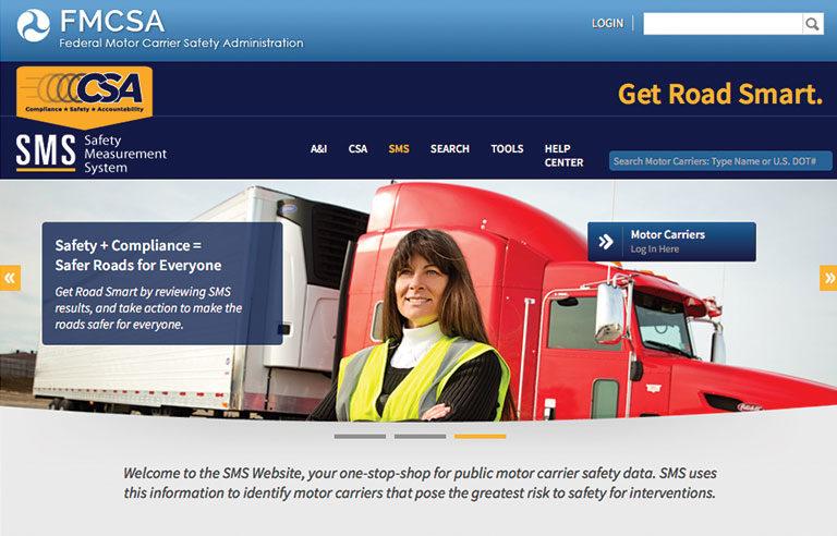 FMCSA homepage