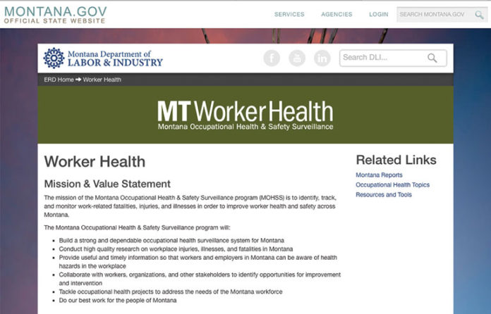 Montana DOL launches worker safety website | 2017-04-27