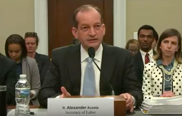 Secretary of Labor - A. Acosta