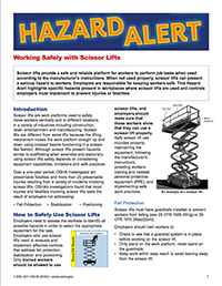 Hazard alert_Scissor Lifts