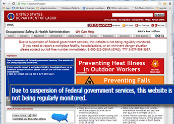 OSHA website not monitored -- sized for slider