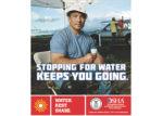 worker drinking water