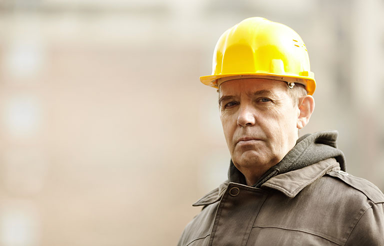 aging construction worker