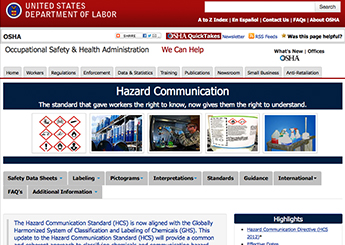 OSHA updates hazcom webpage | 2015-11-04 | Safety+Health Magazine