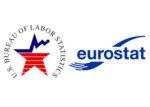 BLS and Eurostat logos