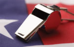 whistle on top of american flag