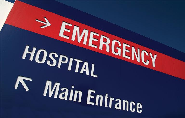 emergency sign arrow