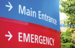 emergency room this way sign