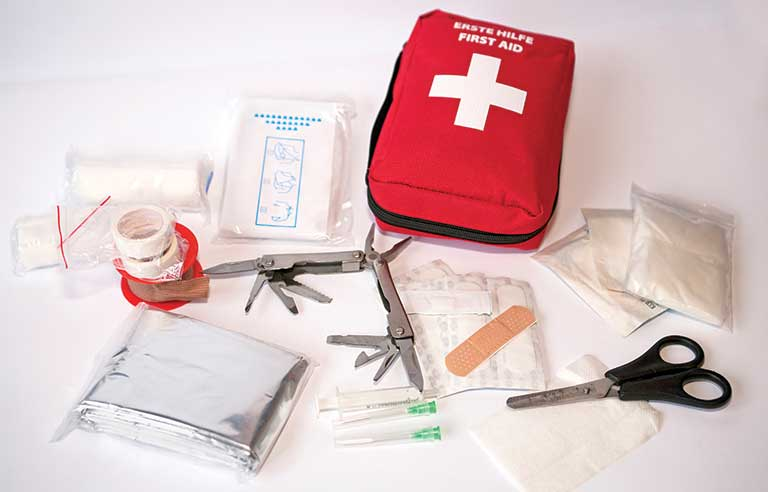 Common items for first aid kits