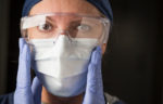 Close up of nurse with mask