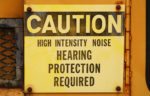 Hearing warning sign