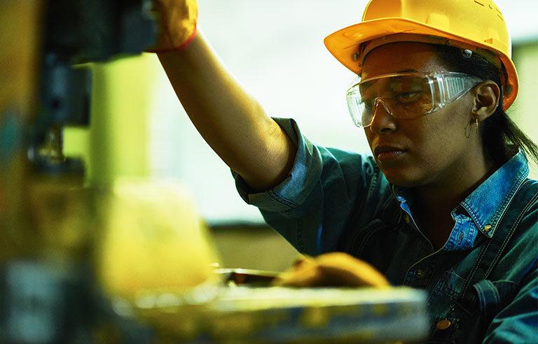 female worker manufacture