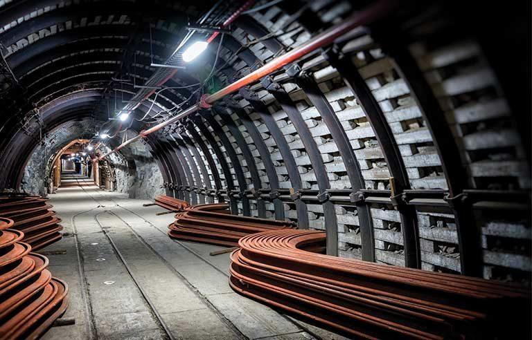 mine underground