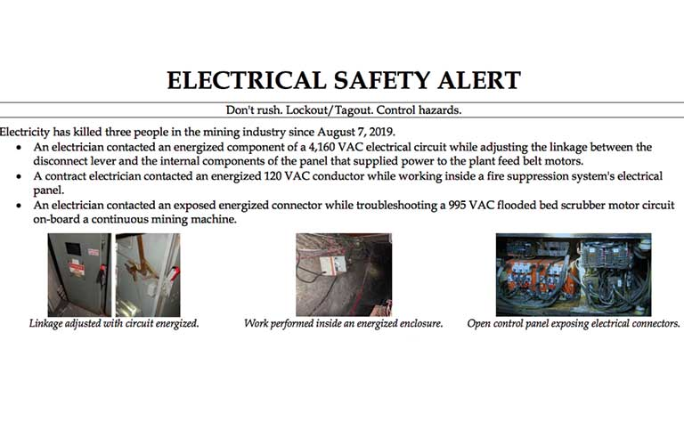Mining electrical safety
