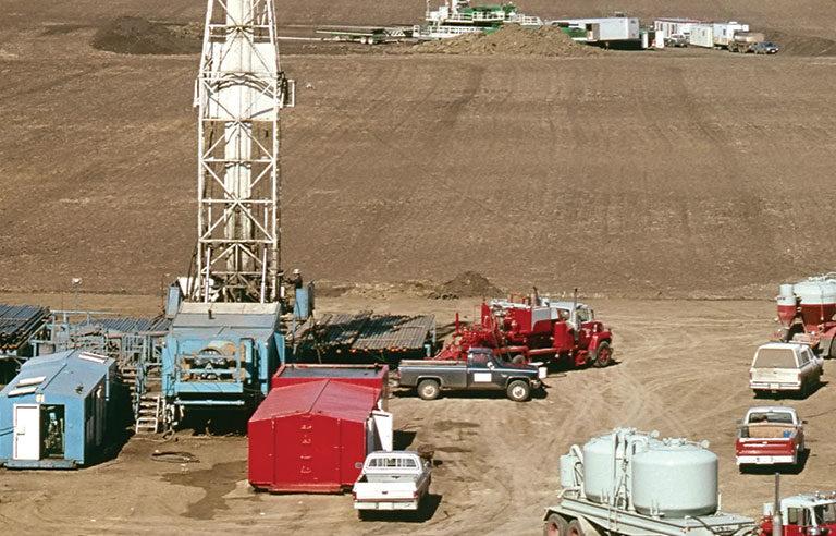 rigs/oil field