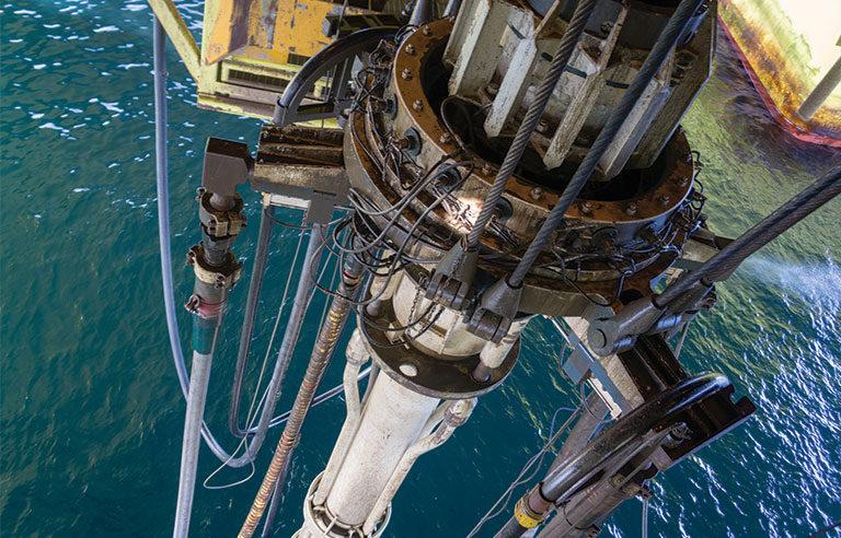 oil rig platform riser