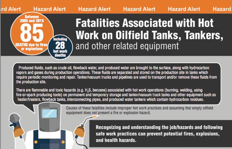 Alert Addresses Hot Work Hazards For Oilfield Workers